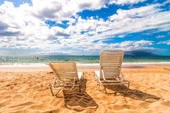 Makena海滩在毛伊,夏威夷 库存照片