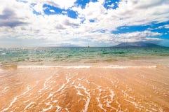 Makena海滩在毛伊,夏威夷 图库摄影