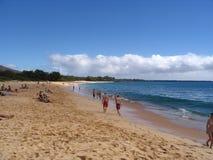 makena пляжа большое стоковые изображения