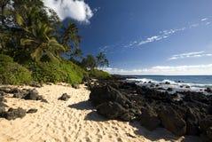 Makena (大)海滩,毛伊,夏威夷 免版税图库摄影