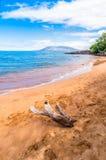 Makena Beach dans Maui, Hawaï Images libres de droits