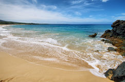 Makena Beach, dans Maui, Hawaï Images stock