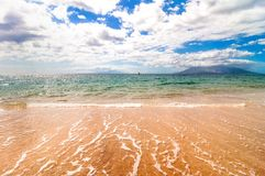 Makena Beach i Maui, Hawaii Arkivbild