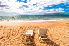 Makena Beach i Maui, Hawaii Royaltyfri Foto