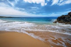 Makena Beach i Maui, Hawaii Royaltyfri Bild