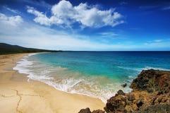 Makena Beach, in Maui, Hawaï Royalty-vrije Stock Foto's