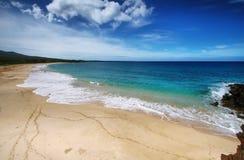 Makena Beach, in Maui, Hawaï Royalty-vrije Stock Afbeeldingen