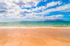 Makena Beach in Maui, Hawaii Royalty Free Stock Photos