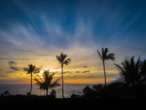 Makena Beach Sunset imagem de stock