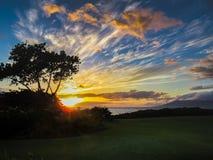 Makena Beach Sunset lizenzfreies stockfoto