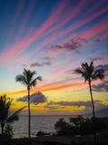 Makena Beach Sunset Royalty Free Stock Images