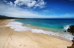 Makena plaża w Maui, Hawaje Obrazy Royalty Free