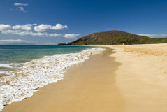 Makena (stor) strand, Maui, Hawaii Arkivfoto
