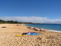 Makena Strand - Maui, Hawaii Stockbild