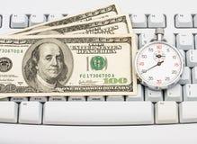 Makend Geld Online Royalty-vrije Stock Afbeelding