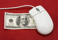 Makend Geld Online Royalty-vrije Stock Foto