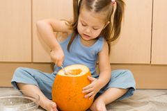 Makend Halloween latern Stock Fotografie