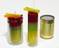 Makend kaarsen - de reeks van ambachtkaarsen Royalty-vrije Stock Afbeeldingen