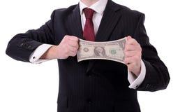De dollar van Streaching Stock Afbeeldingen