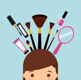 Makeover female design. Vector illustration eps10 graphic Royalty Free Stock Images