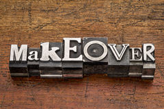 Makeover word in metal type Stock Images
