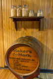 Maker`s Mark barrel display Stock Photos