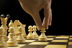 Makes the first move a pawn Stock Image