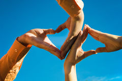 Makes hands shaping heart's Royalty Free Stock Photography
