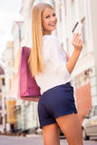 It makes my shopping easier. Royalty Free Stock Photo