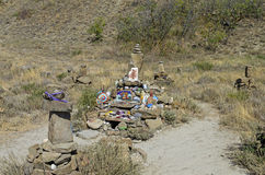 Makeshift Altar to Shiva in Crimean mountains. Royalty Free Stock Photography