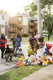 Makeshift Memorial for Michael Brown in Ferguson MO Royalty Free Stock Images