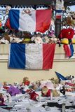 Makeshift memorials along the Promenade des Anglais in Nice Stock Photography