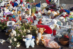 Makeshift memorials along the Promenade des Anglais in Nice Stock Image