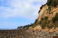 Maketu半岛在丰盛湾,新西兰 库存照片