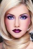 makeup βιολέτα Στοκ Φωτογραφία