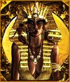 Makeup για τη βασίλισσα Pharaoh, Tan Στοκ Φωτογραφία