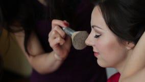 Makeup για τη νύφη απόθεμα βίντεο