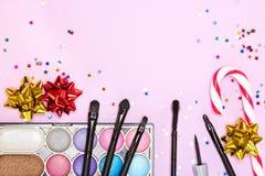 Makeup για το εορταστικό κόμμα Στοκ εικόνες με δικαίωμα ελεύθερης χρήσης