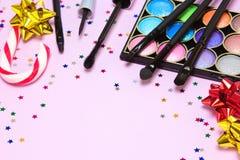 Makeup για το εορταστικό κόμμα Στοκ φωτογραφίες με δικαίωμα ελεύθερης χρήσης