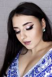 Makeup για το brunette με την ασιατική εμφάνιση στοκ εικόνα με δικαίωμα ελεύθερης χρήσης
