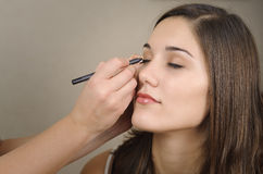 makeup γυναίκα Στοκ φωτογραφία με δικαίωμα ελεύθερης χρήσης