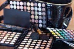 makeup επαγγελματικό σύνολο Στοκ φωτογραφία με δικαίωμα ελεύθερης χρήσης