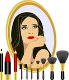 makeup θέστε ελεύθερη απεικόνιση δικαιώματος