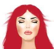 Makeup και τρίχα Στοκ Εικόνες