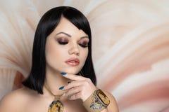 Makeup Κλεοπάτρα αρχαία Αίγυπτος στοκ εικόνες
