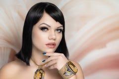 Makeup Κλεοπάτρα αρχαία Αίγυπτος στοκ φωτογραφία με δικαίωμα ελεύθερης χρήσης