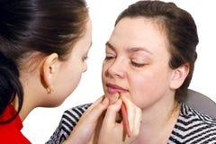 makeup περίοδος επικοινωνία&sigma Στοκ φωτογραφία με δικαίωμα ελεύθερης χρήσης