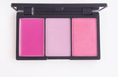 Makeup, ρόδινη παλέτα blusher τόνου Στοκ Εικόνα