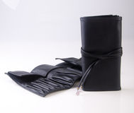 makeup σακούλα ή καλλυντική τσάντα σε ένα υπόβαθρο στοκ εικόνα