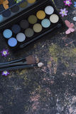Makeup στο υπόβαθρο πινάκων Στοκ Φωτογραφία